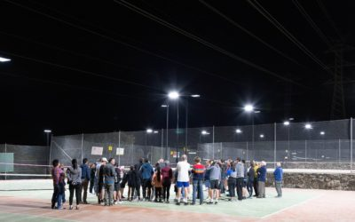 Open night and opening of courts 1 and 2